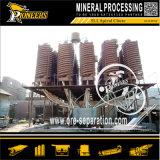 Scivolo a spirale del minerale metallifero dello zinco del ferro del bicromato di potassio del carbone di Zircon di separazione di gravità