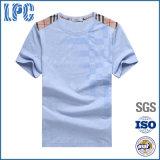 T-shirt piquant d'impression de coton de la mode des hommes bon marché en gros
