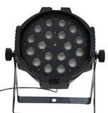 단계 점화를 위한 18X18W 6in1 RGBWA+UV 급상승 LED 동위 빛