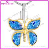 De Vorm van de vlinder met Roestvrij staal van de Tegenhanger van de Juwelen van de Crematie van de Halsband van Kristallen het Herdenkings316L