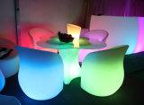 현대 가구 유일한 디자인 꽃 모양 다채로운 LED 의자