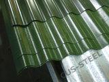 El panel/Galvalume acanalados del material para techos del aluminio del 55% para las hojas de la azotea del metal