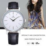 Neue Frauenrhinestone-Uhr-Quarz-Uhr 71147 der Marken-Edelstahl-Dame-Uhr