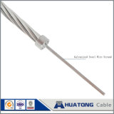 Fil enduit galvanisé de Gsw de fil de zinc de câble échoué par acier