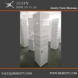Escaparate de la torre de la visualización de la joyería de la manera con precio de fábrica