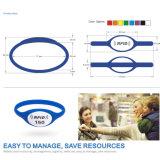Wristbands do silicone da caixa de relógio de 125kHz RFID para a gerência/pagamento