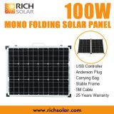 panneau solaire de pliage photovoltaïque mono de 100W 12V pour l'usage à la maison