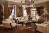 Insieme classico della Tabella del tessuto del sofà dell'oggetto d'antiquariato di amore della presidenza classica della sede