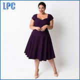 XL-5XL plus Größen-purpurrotes reizvolles wenig Kleid