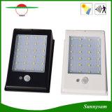 l'indicatore luminoso di via alimentato solare del sensore di movimento di 400lm il LED PIR impermeabilizza le 24 accensioni di modi degli indicatori luminosi 3 del giardino della lampada da parete del LED