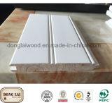 Водоустойчивая белая воспламененная панель стены тимберса Paulownia твердой древесины