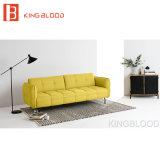 Nuova mobilia gialla di disegno stabilito del sofà dello strato del tessuto per il salone
