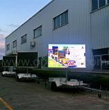Remorque électronique mobile de signes annonçant l'affichage vidéo extérieur DEL d'écran polychrome des camions