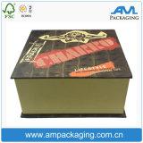 堅いカスタムボール紙の塗被紙の包装のハードカバーのシガーのギフト用の箱