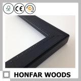 Bâti en bois kaki de photo de métier de rectangle pour le cadeau de famille