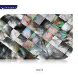 Mosaico madreperlaceo di disegno del nero dell'orlo delle coperture di lusso del Mop per la parete della decorazione
