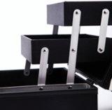 Tablero de ajedrez de aluminio Vanidad Caja con bandejas