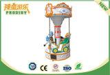 Мест езды 3 лошади оборудования занятности Carousel миниых супер для малышей