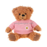 Urso da peluche do brinquedo do luxuoso dos animais enchidos com camisola