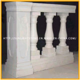 Barato Natural mármol blanco travertino Barandilla Barandilla / balaustradas para el balcón