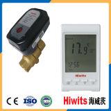 Robinet à tournant sphérique divers de chauffage d'étage de Hiwits avec le thermomètre