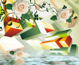 Ölgemälde-Blumenentwurf des angemessenen Preis-3D für Hauptdekoration