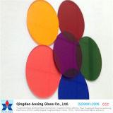 밝은 파란색 청동색 또는 회색 또는 어두운 회색 색깔 또는 색을 칠한 플로트 유리