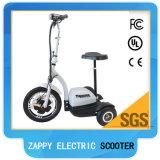 Vespa eléctrica del montar a caballo de 3 ruedas con Lazyback
