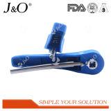 Válvula de borboleta sanitária da braçadeira com punho plástico