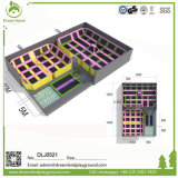 Tuv-anerkannter Innentrampoline-Park mit Schaumgummi-Vertiefung für Verkäufe
