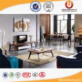 Tabelas de jantar superiores do mármore Home da mobília com base do aço inoxidável (UL-DC829)