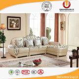 Premier sofa européen de cuir de graines avec le bâti en bois solide/sofa royal classique (UL-X2028A)