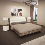 Король Размер Кровать высокого лоснистого чёрного дерева деревянный для комплекта спальни (WB-003)