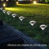 Lumière actionnée solaire de pelouse de diamant de jardin (RS002)
