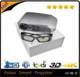分極された3D 4k Glasses Fashionable Home Theater LED Projector