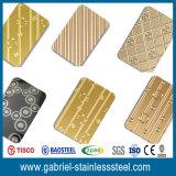 201/304/316/430 acier inoxydable de laser couvre la plaque