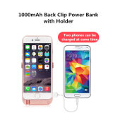 10000mAh 2USB背部クリップ力バンクのiPhone 6p/6sp/7pのためのホールダーが付いている細い電槽