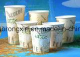 PE Met een laag bedekt Document voor de Kop van de Koffie Latte