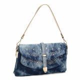 Deluxe Design Patterned Rhinestones Front Cross-Body Bag (MBNO040031)