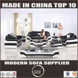 Sofá de couro secional do lazer moderno