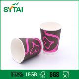 Tazas de papel del café doble disponible de la pared