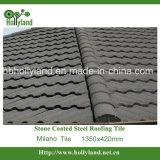 Telha de telhado de aço revestida da microplaqueta de pedra (telha de Milão)