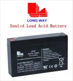 bateria recarregável selada 6V7ah de bateria acidificada ao chumbo