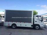 Sinotruk HOWO 4X2 5 toneladas de HD LED que hace publicidad del vehículo