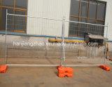 2.1 Alta rete fissa provvisoria galvanizzata di m. con i piedi di plastica (XMR2)