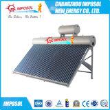 Calentador de agua solar precalentamiento de alta presión de vacío del tubo de la bobina de cristal del cobre