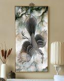 Chinesische Art-Lotos-Blumen-Kunst-Farbanstrich mit Rahmen für Wand-Kunst
