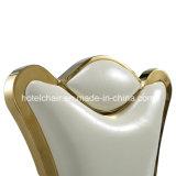 Inifinityの金の新郎新婦のステンレス鋼の結婚式の椅子