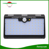 Indicatore luminoso solare potente alimentato solare dell'indicatore luminoso del sensore di movimento di obbligazione lumen impermeabile esterno della lampada da parete 66 LED di alto