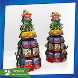 クリスマスツリーの形づけられたボール紙のペーパーパレット表示